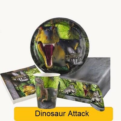 DINOSAUR ATTACK Birthday Party Range - Dino Fun Tableware Supplies Decorations