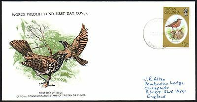 FDC - Tristan Da Cunha, 1979 WWF, Wildlife, Thrush, First Day Cover