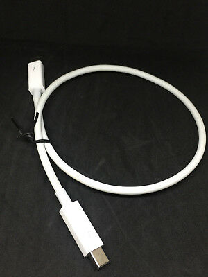 Genuine/Used Apple Thunderbolt Cable Cord Male to Male 0.5m White MD862LL/A