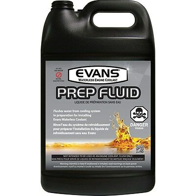 (1) Evans High Performance Waterless Coolant 1 gal & (1) Evans Prep Fluid, 1 gal