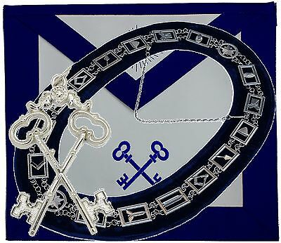 Masonic Blue Lodge Collar Apron Treasurer Key Jewel PACKAGE