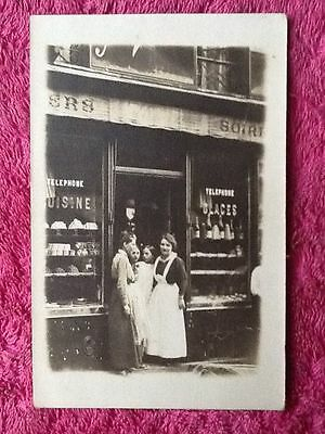 "Carte photo ancienne 1900'  A identifier : Ancien commerce "" comestibles """