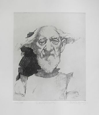 """CHARLES BRAGG """"DON QUIXOTE"""" Hand Signed Limited Edition Etching RARE!"""