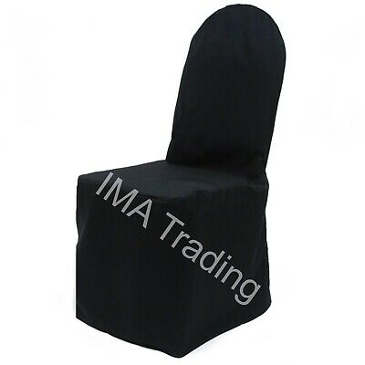 100 Black Round Top Satin Chair Covers Ideal For Any Event Brand New