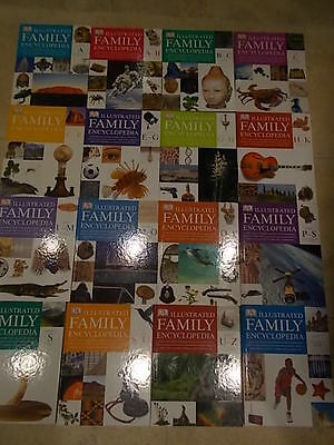 16 Volume Set DK Illustrated Family Encyclopedia - Facts to help school projects
