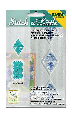 AVEC Stitch a Little 2er Set Stickschablonen Schablonen Quick (E-021) NEU & OVP