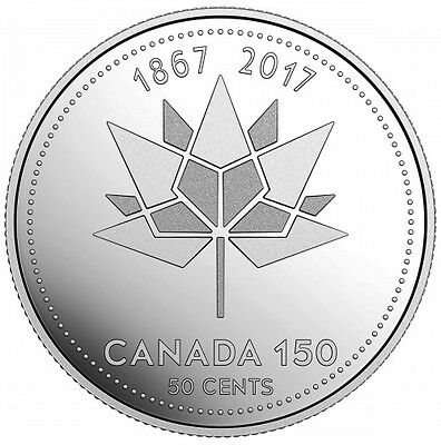 2017 Canada Fifty Cent 50¢ Piece 150 Anniversary Of Canada Special Edition Coin