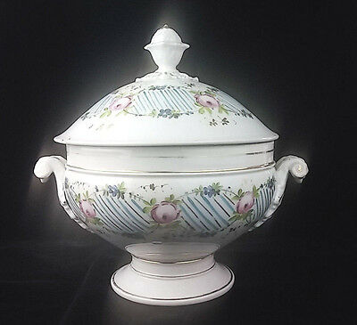 Antique French Porcelain Compote - Large -  c 1825