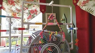 Custom PVC Parrot Perch-Play Area for Domed Cages  * FREE SHIPPING **