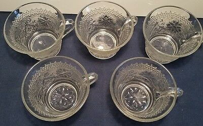 Indiana Glass Clear Sandwich Cup & Saucer