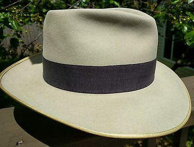 Vintage Stetson 7x Clear Beaver Silverbelly Fedora Hat