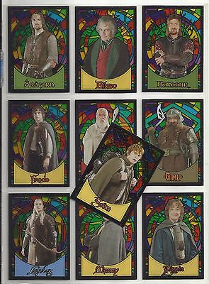 "2006 Lord of the Rings Evolution STAINED GLASS ""Complete Set"" of Cards (S1-S10)"