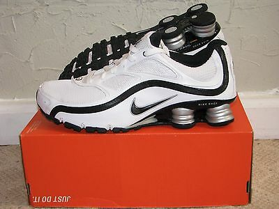 Nike Shox Turbo 9+ White / Black / Silver Mens Size 10.5 DS NEW! 366410-004