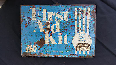Vintage RDI Industrial #25 First Aid Kit-Hanging Metal Box out of OHIO Coal Mine