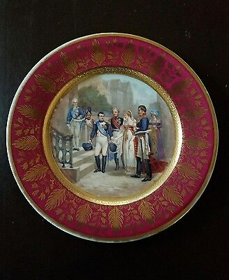 Antique French Sevres hand painted porcelain plate of Napoleon