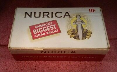 Lot of 2 Vintage NURICA CIGAR BOXes - 10 cents cigars