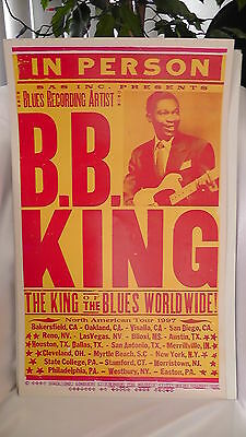 Vintage BB King 1997 Posterboard Collectible 22 x 14