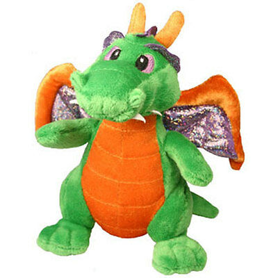 Aurora World Plush - Legendary Friends Dragon - GREEN (7 inch) - New Stuffed Toy