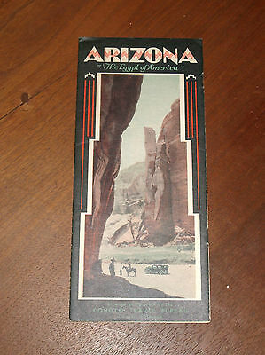 Vintage 1930's Arizona Conoco Gas Travel Brochure Pamphlet