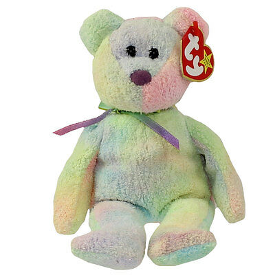 TY Beanie Baby - GROOVY the Ty-Dyed Bear (8.5 inch) - MWMTs Stuffed Animal Toy