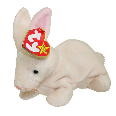 TY Beanie Baby - NIBBLER the Beige Rabbit (6 inch) - MWMTs Stuffed Animal Toy