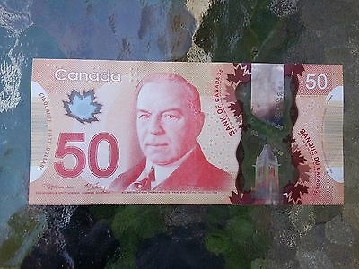Canadian $50 Dollar Bank Note Polymer Bill AME4013335 Circulate 2012 Canada