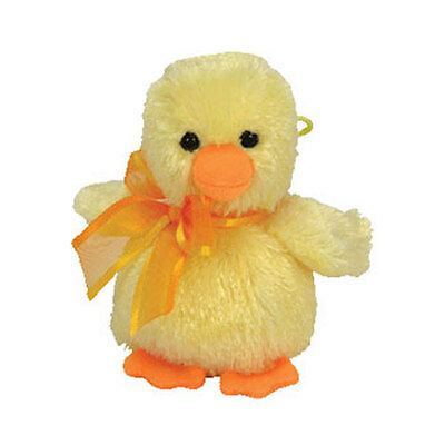 TY Basket Beanie Baby - BILLINGSLY the Duck (3.5 inch) -MWMTs Easter Stuffed Toy