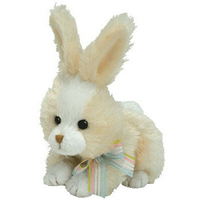 TY Basket Beanie Baby - TOPSY the Bunny (4.5 inch) - MWMTs Easter Stuffed Toy