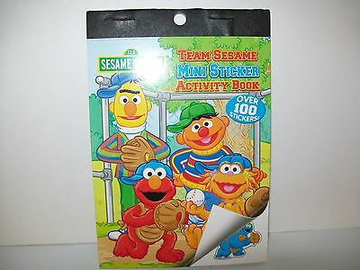 Sesame Street  Team Sesame Mini Sticker Activity Book Over 100 Stickers. New