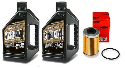 Genuine KTM oil filter & Maxima SynBlend 10W40 service kit 450SXF 2013-2016