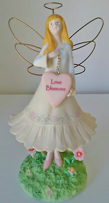 Guardian Fairy Angel Statue Figurine Love Blossoms hand painted decoration Russ