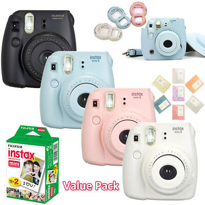 Fujifilm Instax Mini 8 Camera + 20 Fuji Instant Photo Polaroid Films + Accessory