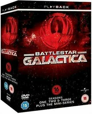 Battlestar Galactica : Complete Seasons 1-3 (16 Disc Box Set) [DVD] - DVD  WQVG