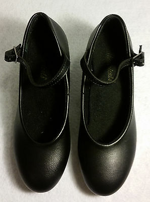 Theatricals - Girl's Black Character Dance Shoes Size - 1 1/2 - Preowned
