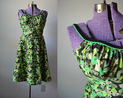 True vintage swimsuit 1960s one piece retro deweese swim dress large green