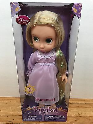 """Disney Store 16"""" NWT Toddler 1st Edition Tinsel Hair Rapunzel Doll Tangled"""