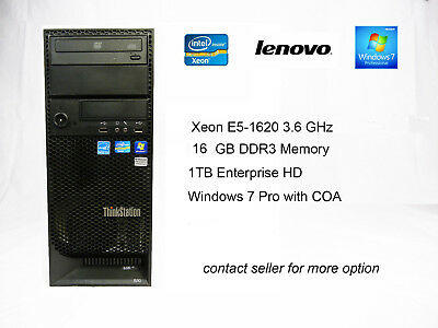 Lenovo ThinkStation S30 Xeon E5-2665 - 8 Core, 16GB Memory, 1TB HDD