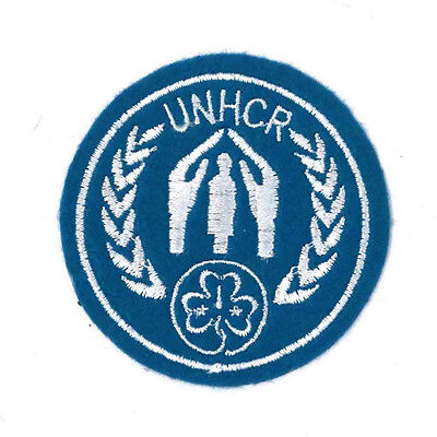 Girl Guide Scout Brownie BADGE PATCH – new! UNHCR WAGGGS Felt 2.5""