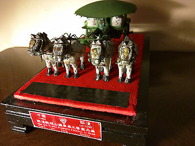 Chinese Folk Art Bronze War Chariot Horses Terra Cotta Terracotta Army Warriors