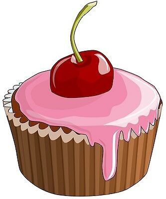 30 Custom Simple Cherry Cupcake Personalized Address Labels