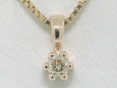 Blow out  Diamant Brillant Anhänger 585 Gelbgold 14Kt Gold Solitär 0,11ct