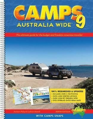 Camps Australia Wide 9 with Camps Snaps by Philip Fennell Spiral Book Free Shipp