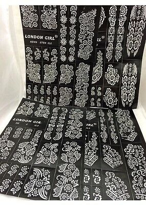 Heena Stencil Mehndi Stencils Arabic Indian Style Pack Of 4 Pages Just For