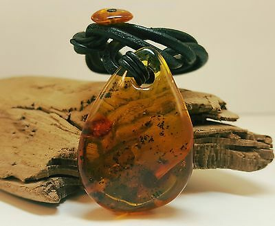 Stone Natural Baltic Amber Pendant Nr615 9,5g Butterscotch Vintage Old Rare Sea