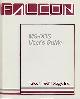 MS-DOS User's Guide - Falcon Technology - 1984-1986