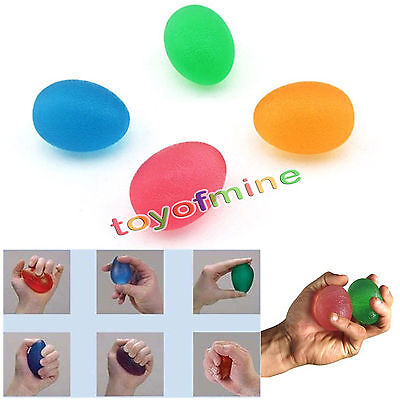 Soft Egg Stressball Hand Finger Exercise Therapy Stress Mood Squeeze Relief Ball