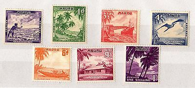 Nauru 1954 Set To 1/- SG48/53 Mint X5988