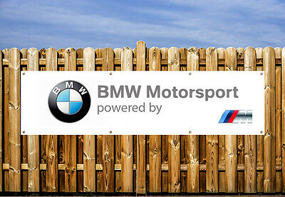 Bmw Motorsports Logo Pvc Banner - Workshop, Garages & Bedroom