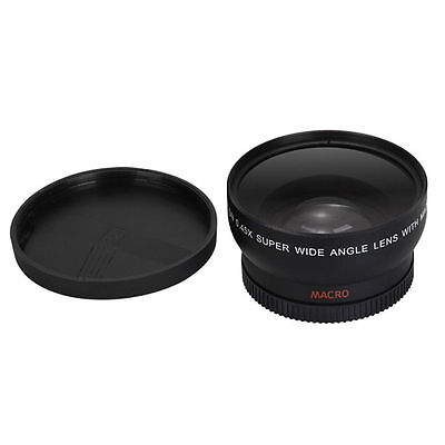 58MM 0.45x Wide Angle Lens with Macro for Canon EOS 1000D DSLR T1i T2i XTi XS