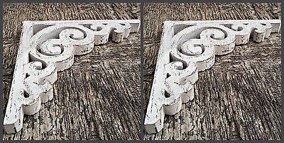 Victorian Wooden Shabby Chic Corbel Farmhouse Decor Wood Bracket 1 x Pair